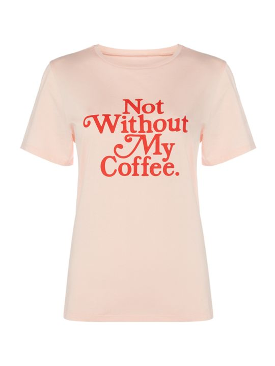 BAN.DO Not Without My Coffee Pink T-shirt