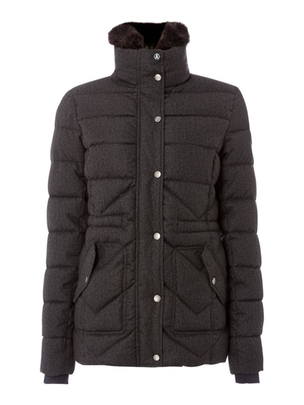 Barbour, Lomond Quilted Coat With Detachable Collar