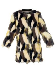 Natan long faux fur jacket