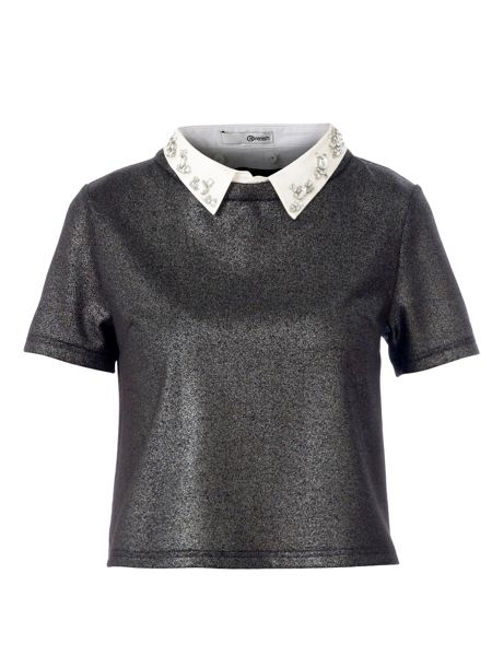 Relish Jeff top with shirt collar