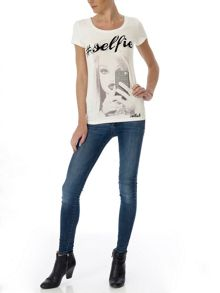 Printed Lovers t-shirt with its necklace