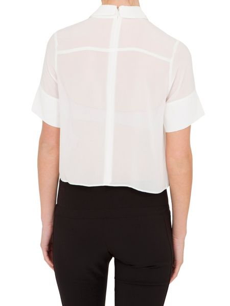 Relish Relish Cropped Blouse