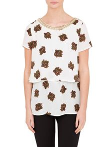 Relish Relish Print Double Layer Top