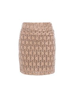 Relish Textured Body Con Skirt