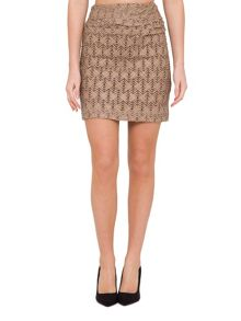 Relish Relish Textured Body Con Skirt