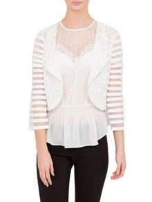 Relish Relish Cropped Lace Jacket