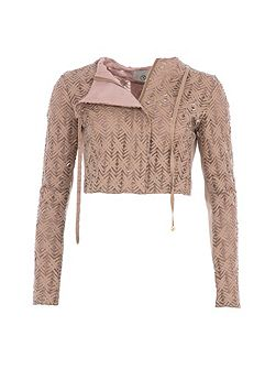 Relish Textured Cropped Jacket