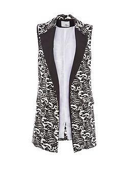 Relish Printed Sleeveless Jacket