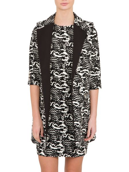 Relish Relish Printed Sleeveless Jacket