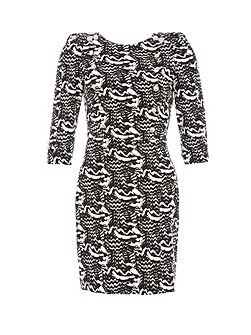 Relish Body Con Print Dress