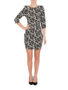 Relish Relish Body Con Print Dress