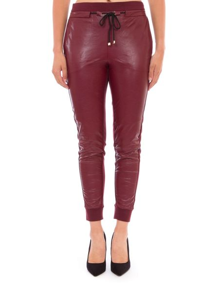 Relish Faux Leather Track Trousers