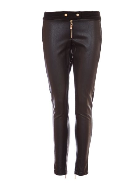 Relish Faux Leather Skinny Trousers