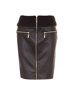 Tube Skirt With Zipped Front