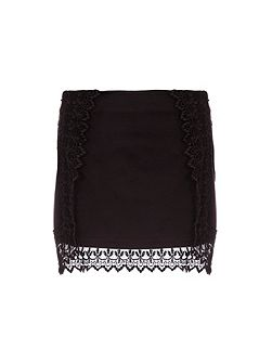 Mini Skirt With Lace Detailing