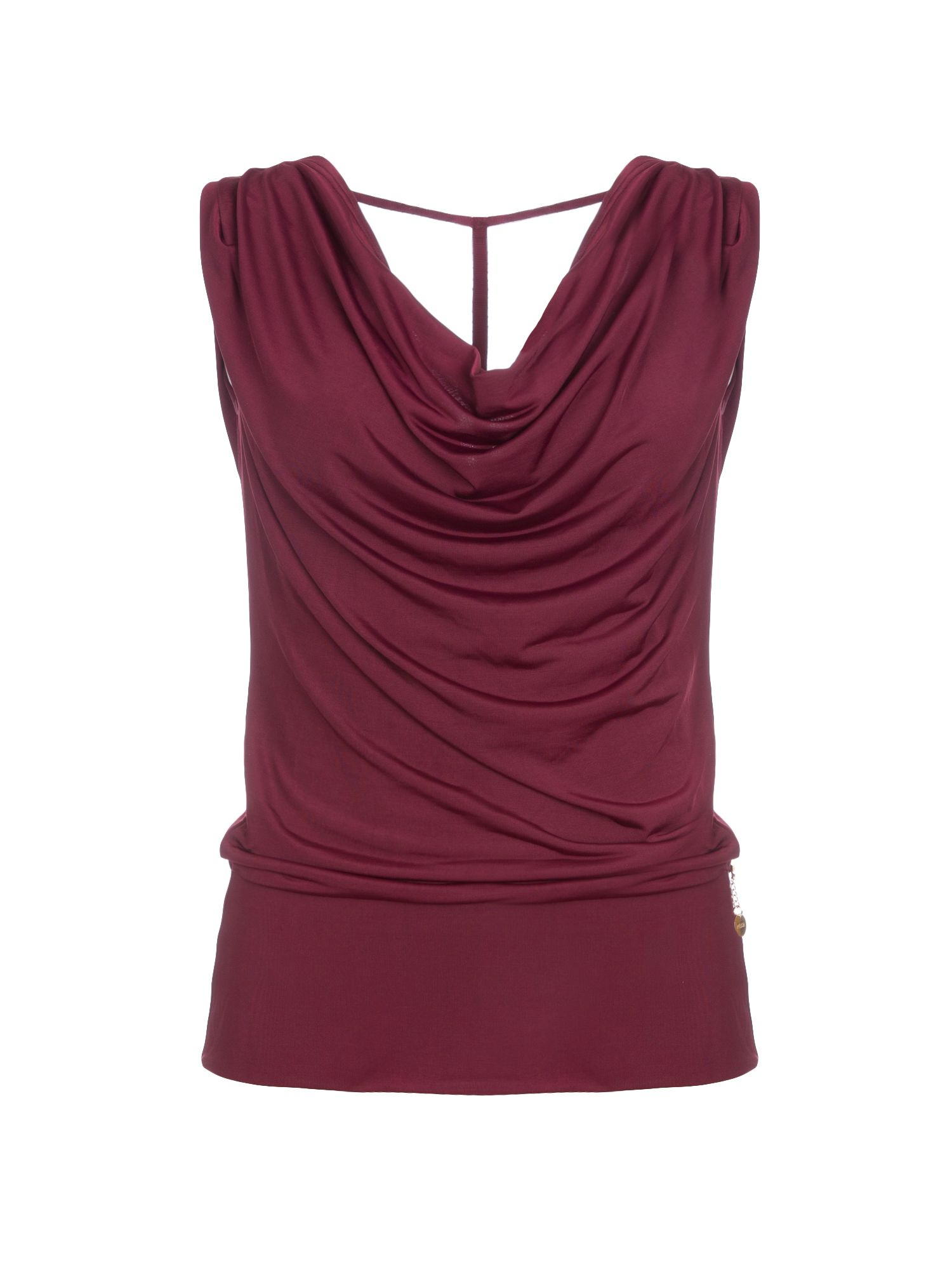 Relish Relish Cowl Neck Top, Red
