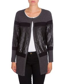 Relish Oversize Sequined Cardigan