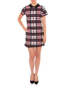 Relish Check Print Mini Dress