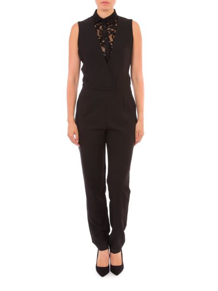 Relish Jumpsuit With Lace Detailing
