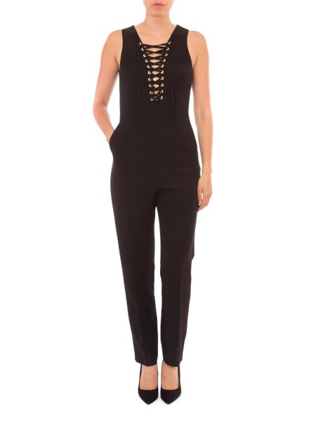 Relish Lace Up Jumpsuit