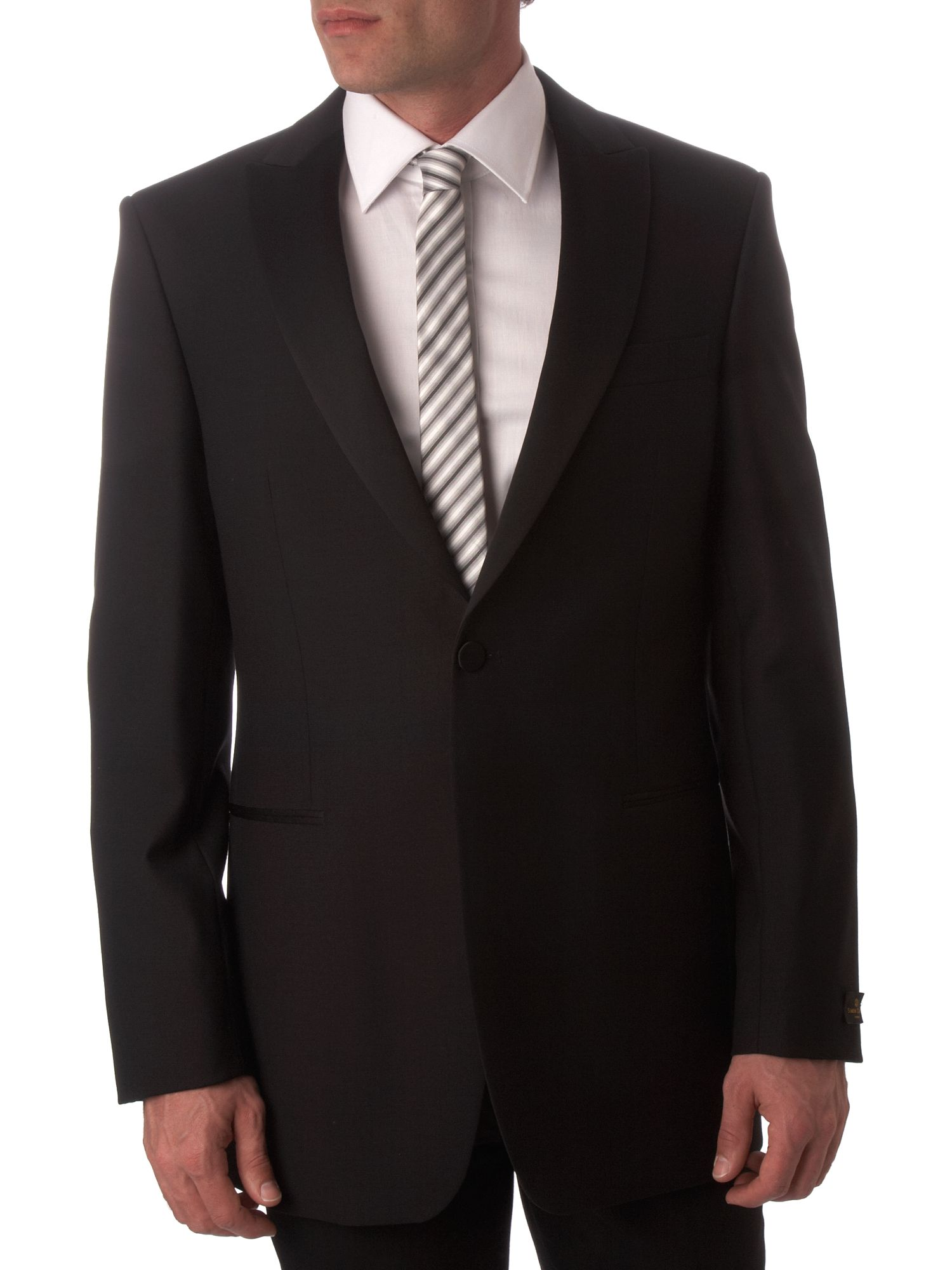 Men's Simon Carter Single breasted formal dinner suit jacket, Black