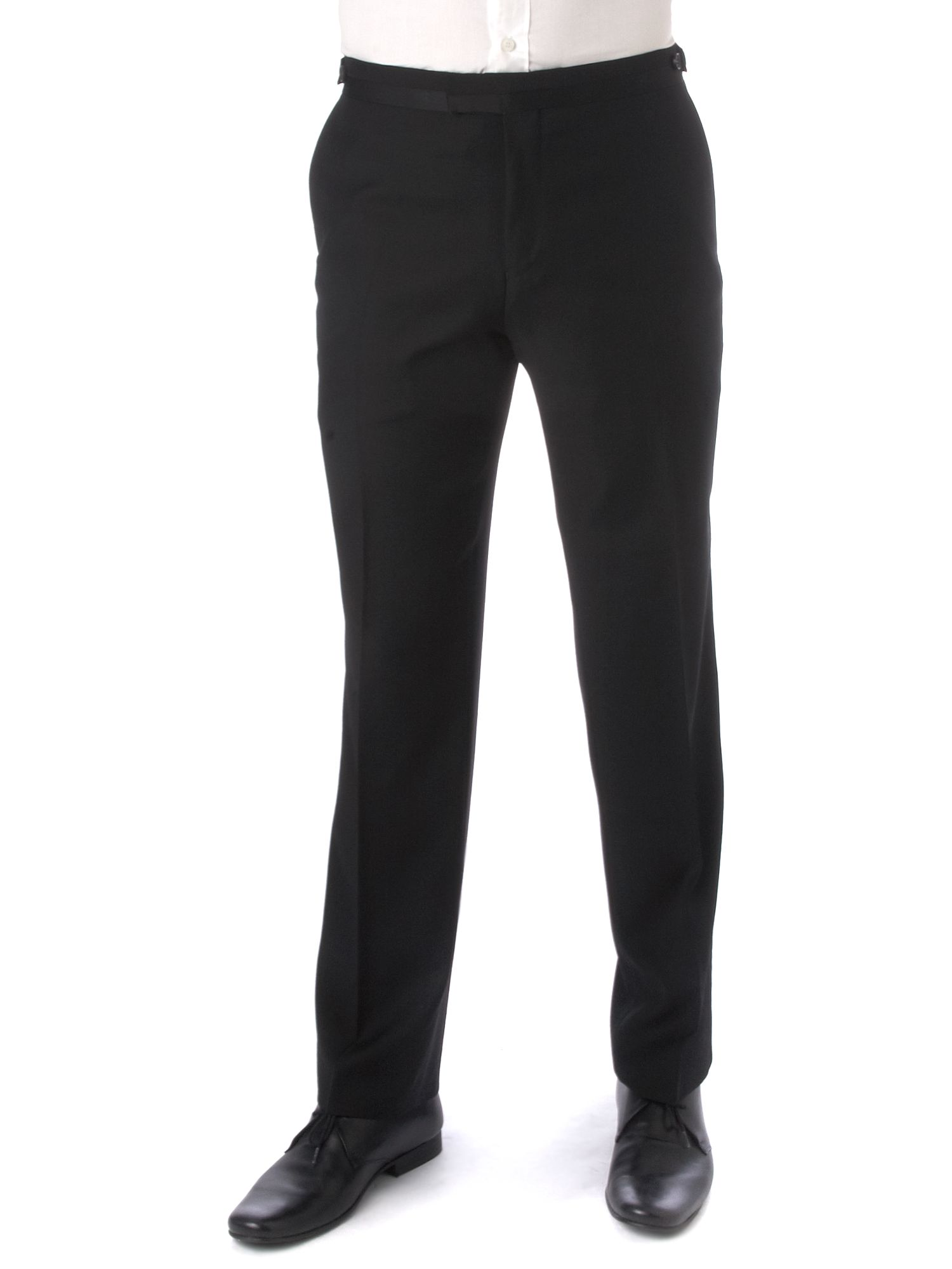 Men's Simon Carter Formal dinner suit trousers, Black