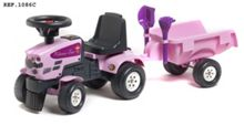 Baby Princess Tractor, Trailer, Shovel & Rake