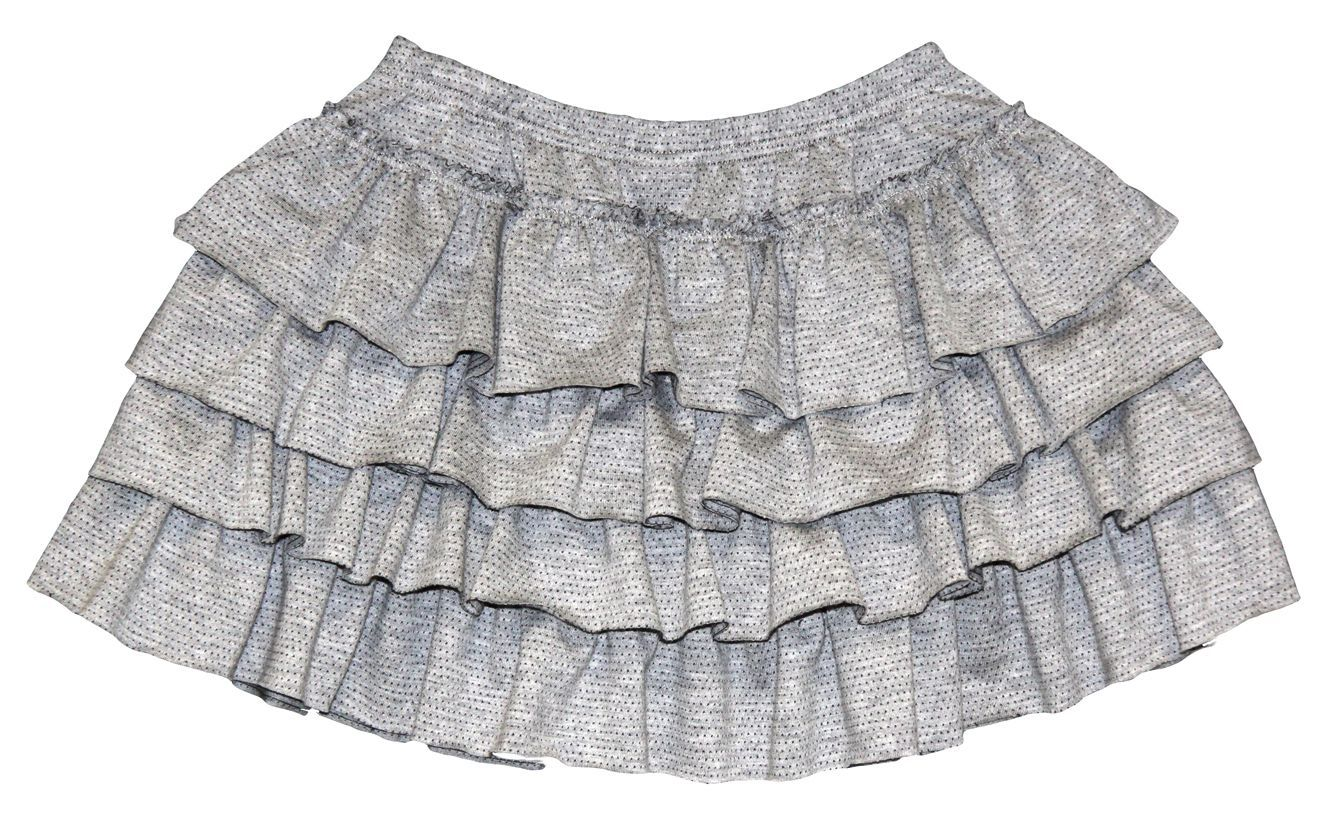 Girl`s short skirt in jacquard jersey