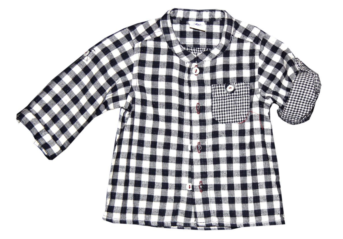 Baby boy check shirt in tubic cotton