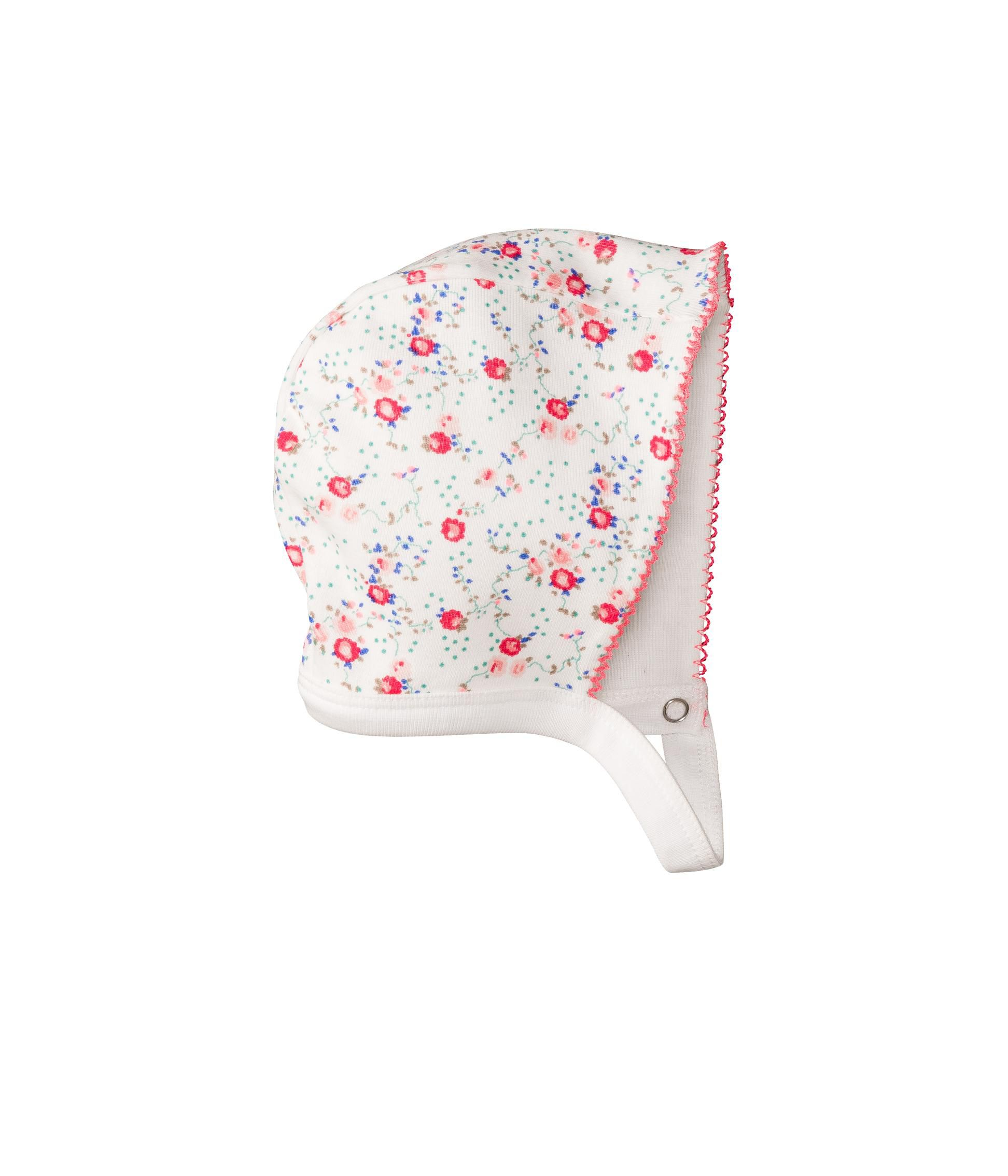 Baby girl flower bonnet