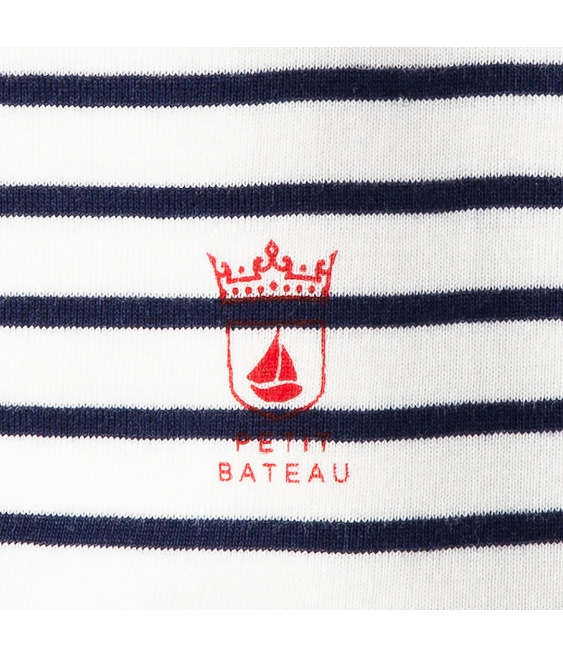 Baby boy sailor-stripe bib