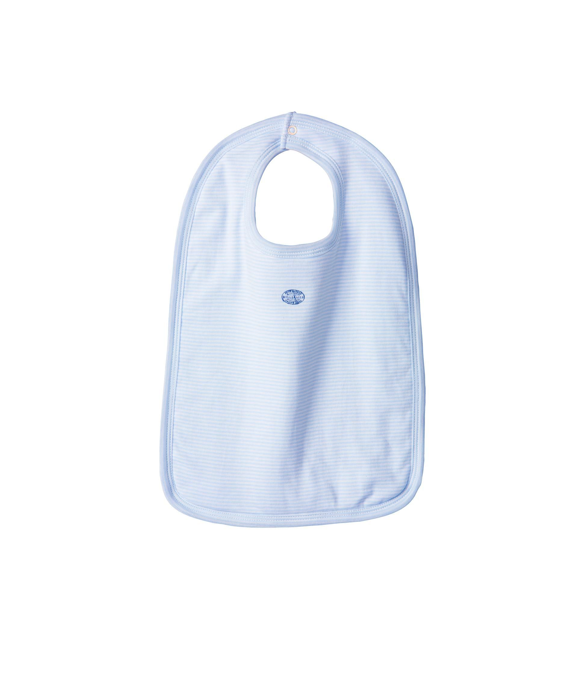 Baby boy milleraies stripe bib