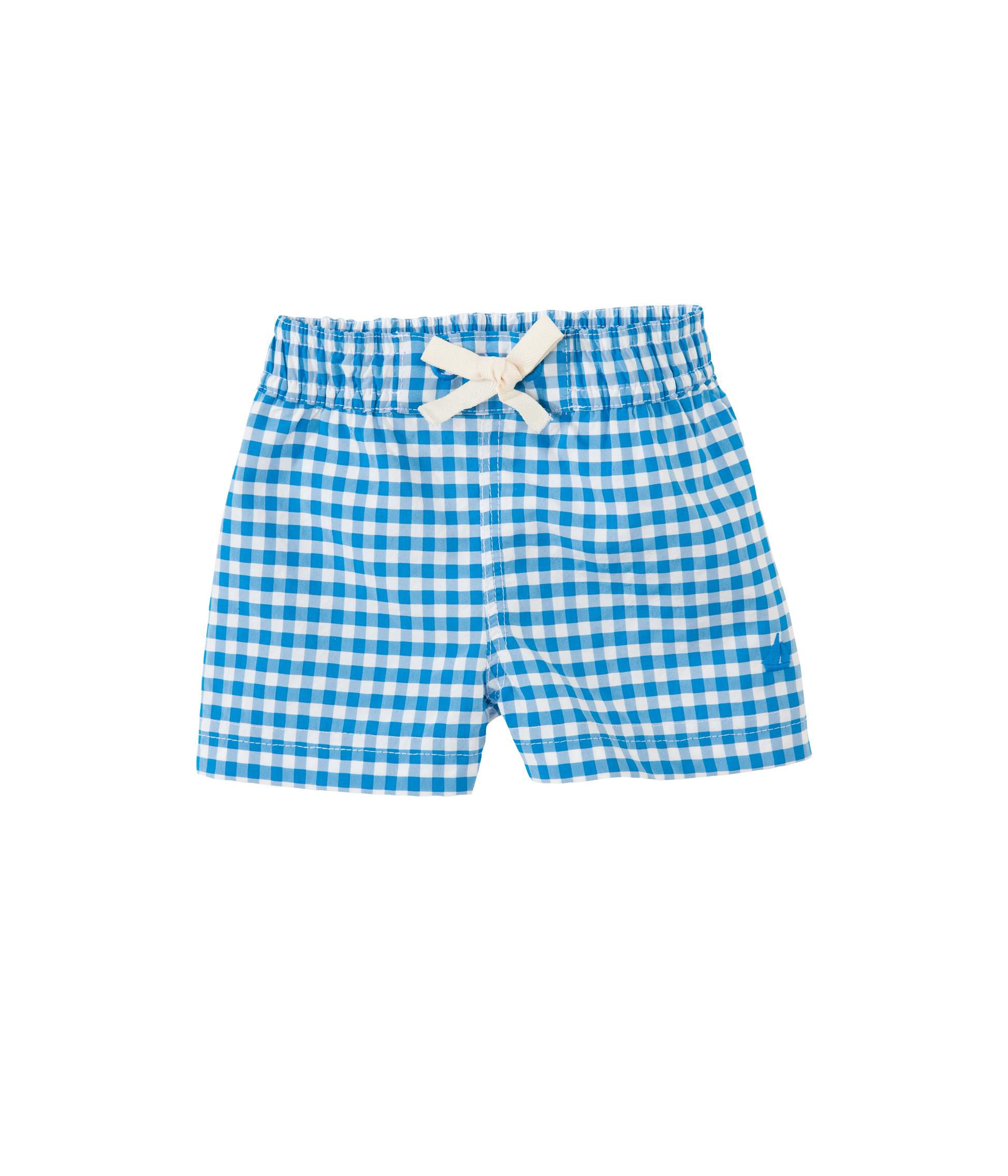 Boy`s vichy check swim shorts