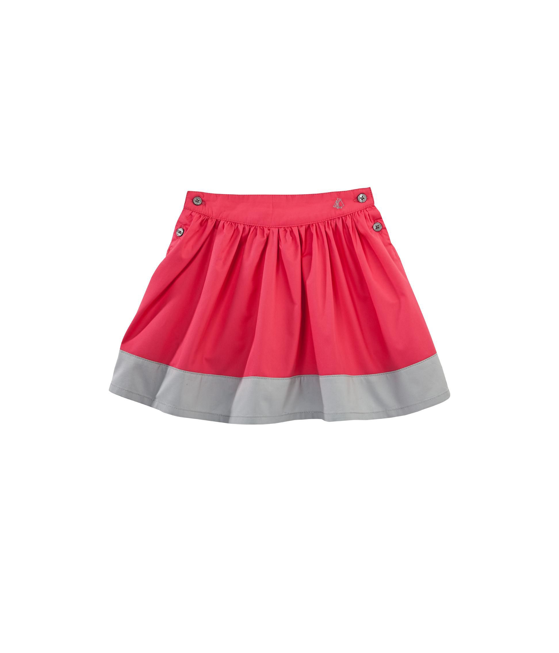 Girl`s short colourblock skirt in mini twill
