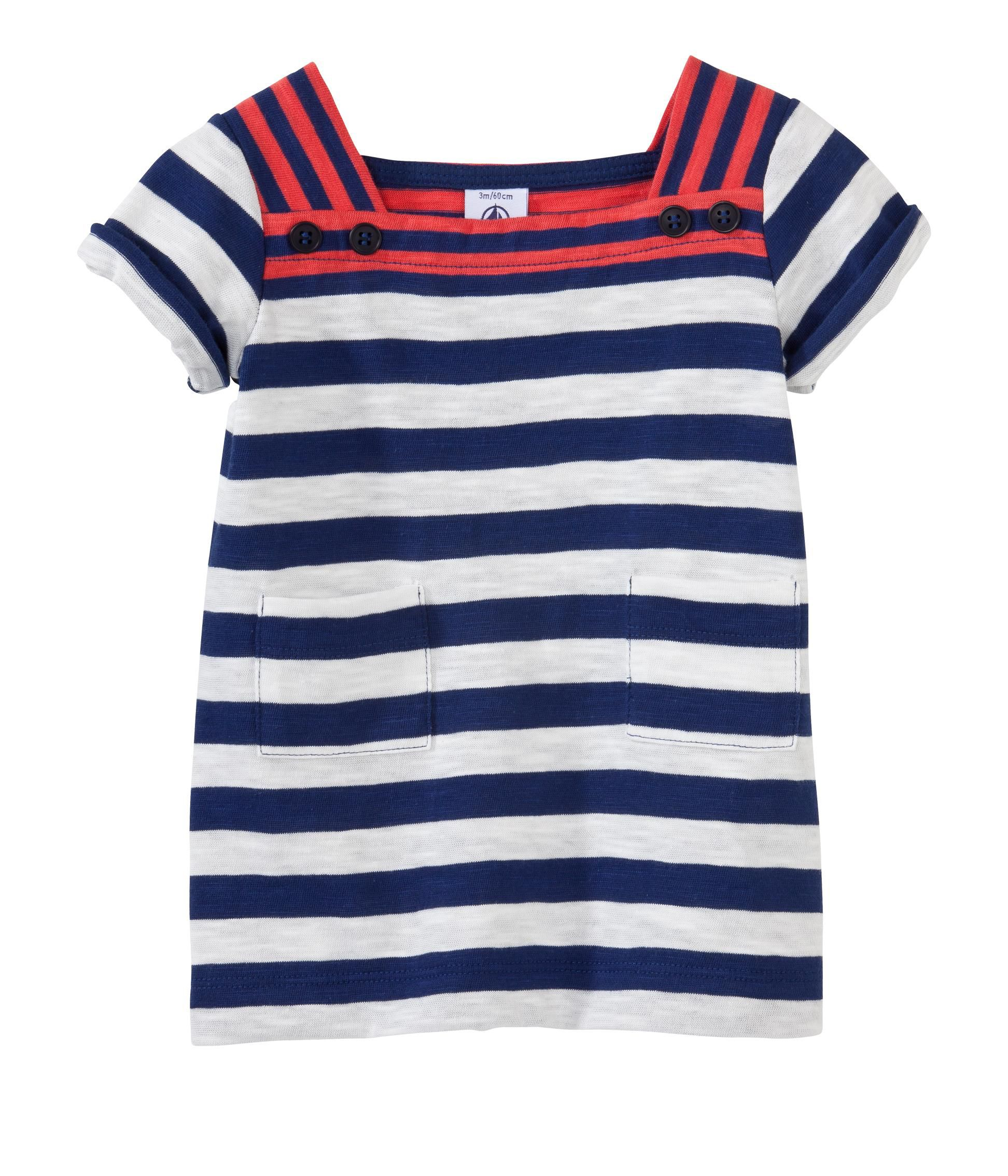 Girl`s stripe dress in jersey