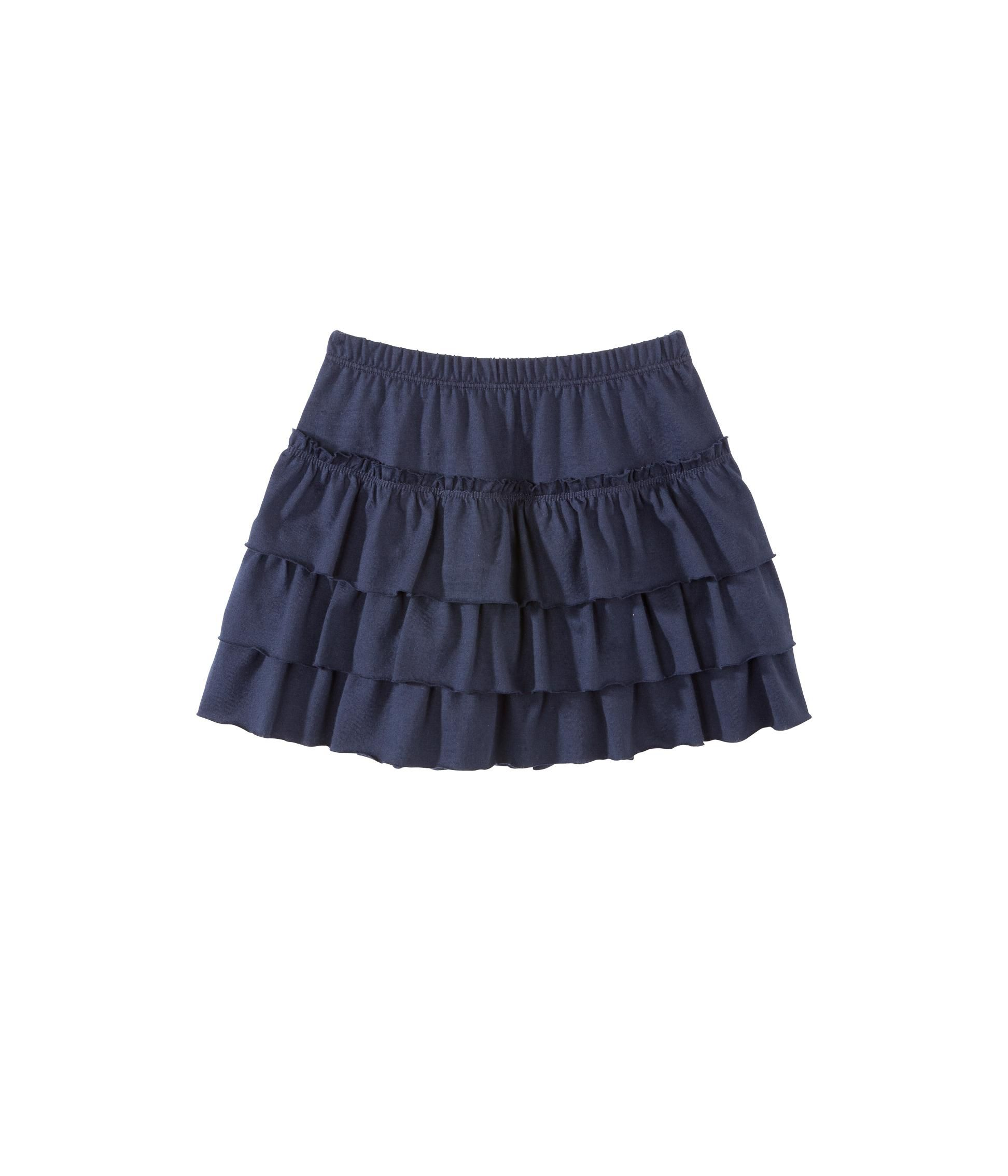 Girl`s jersey ruffle skirt blue smoking