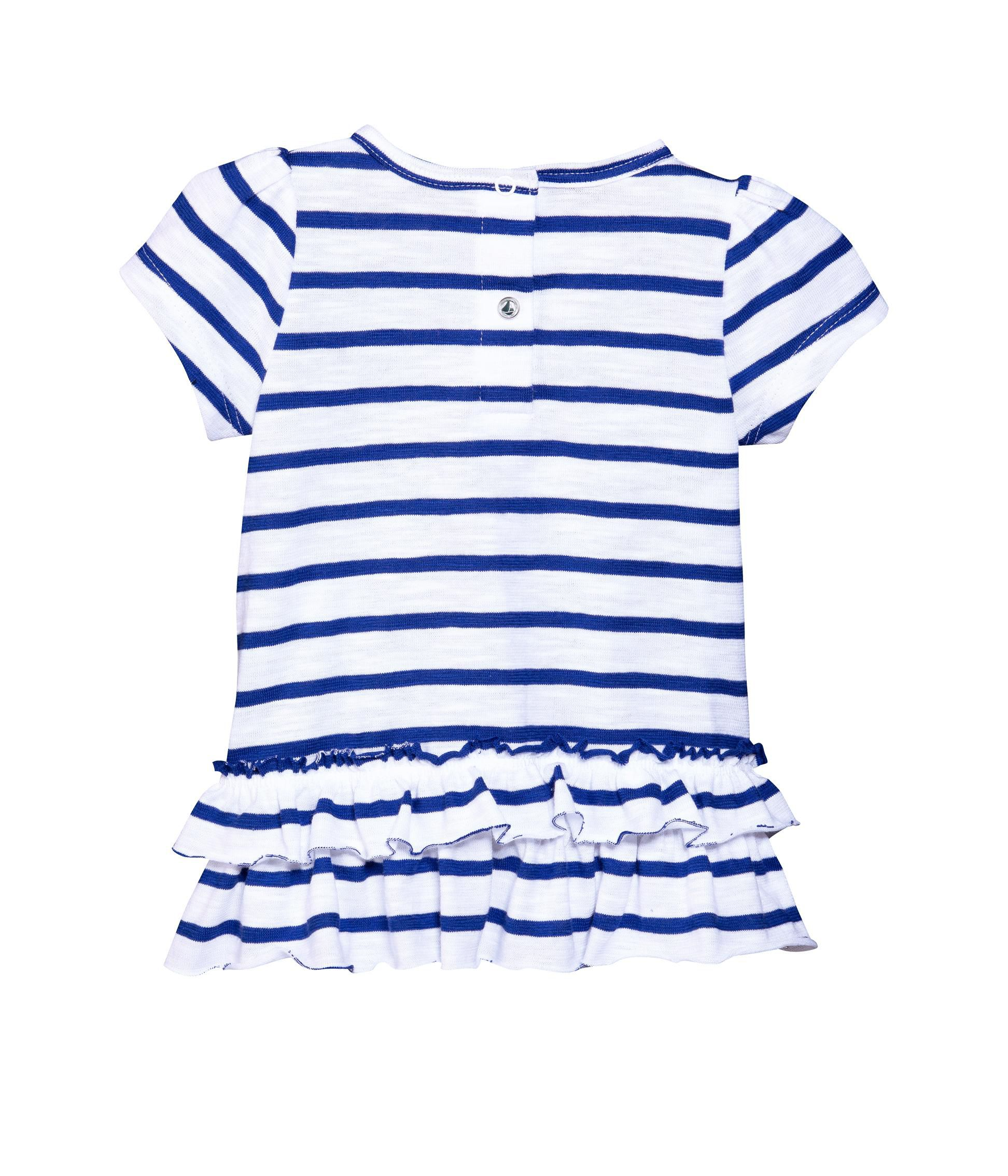 Baby girl sailor stripe dress in jersey