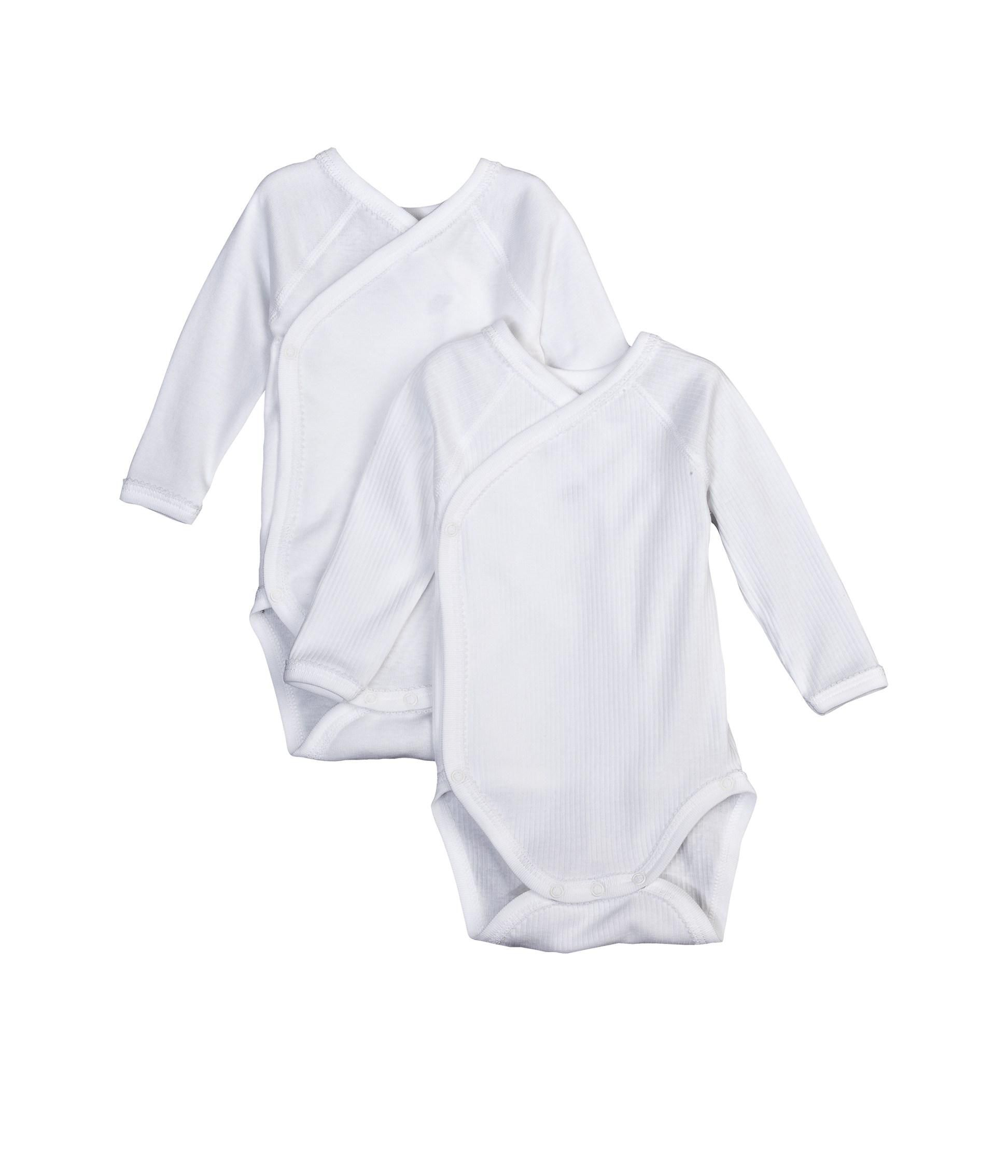 Pack of 2 newborn baby long-sleeved bodysuits