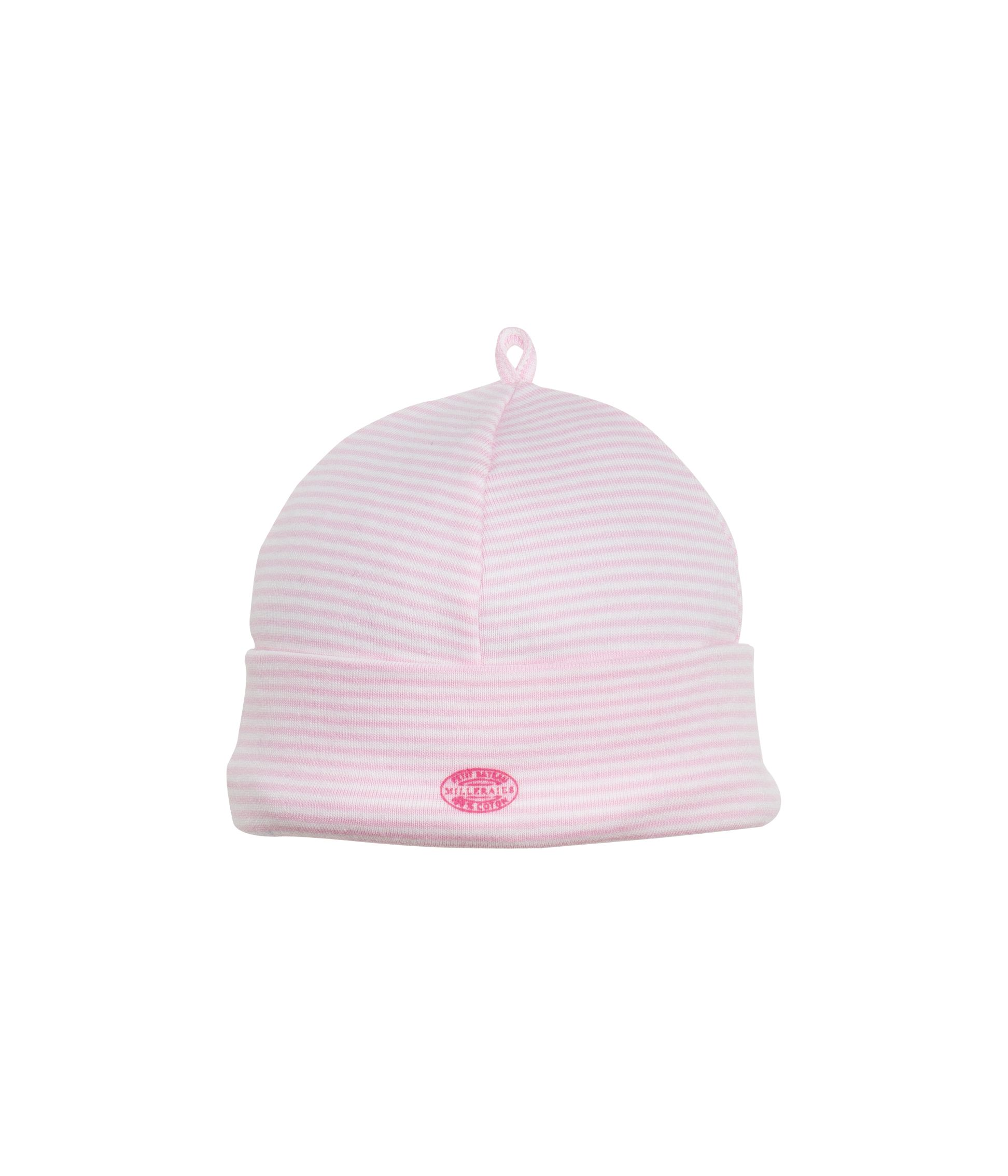 Baby girl`s iconic striped hat