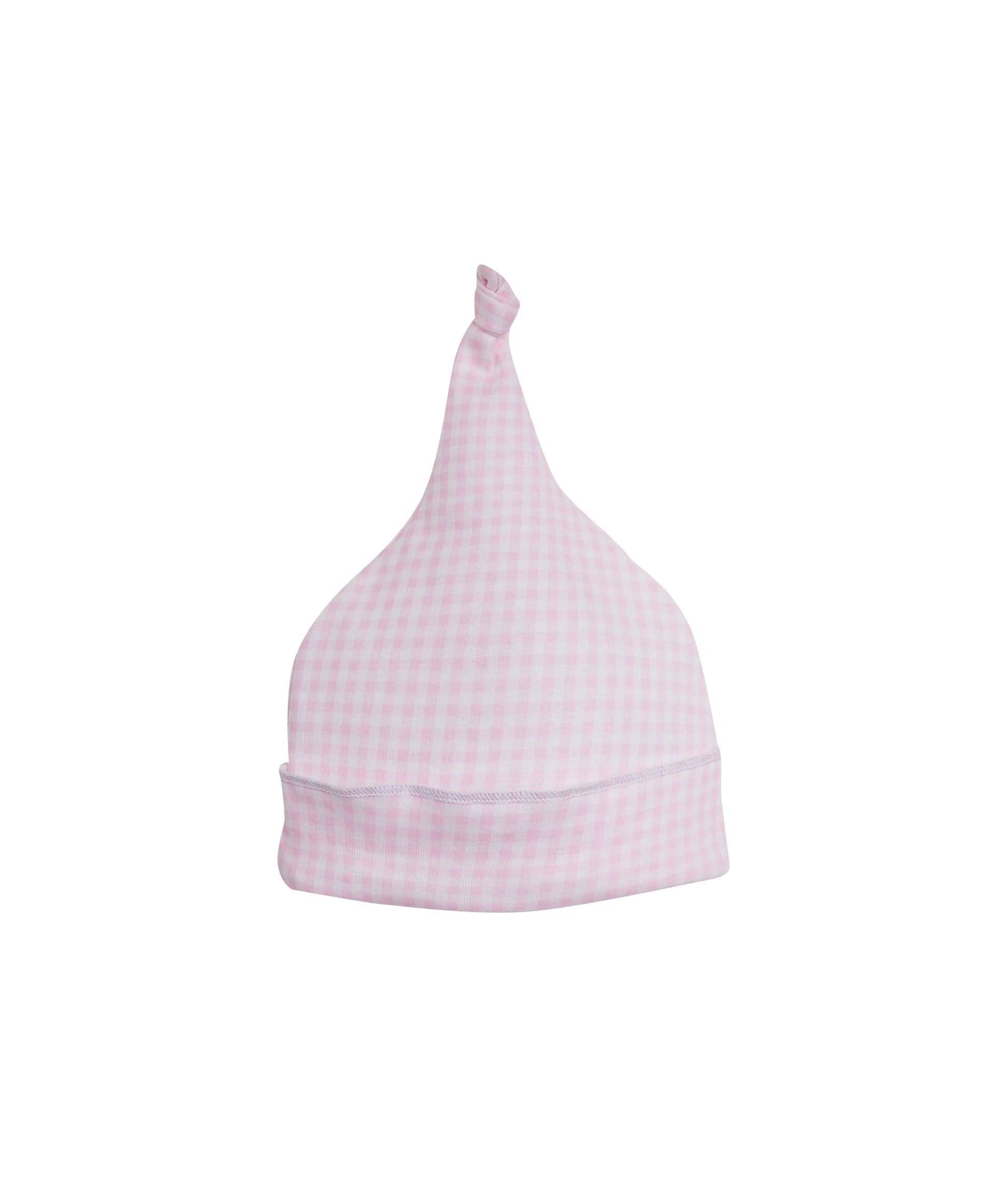 Newborn baby brushed cotton gingham hat
