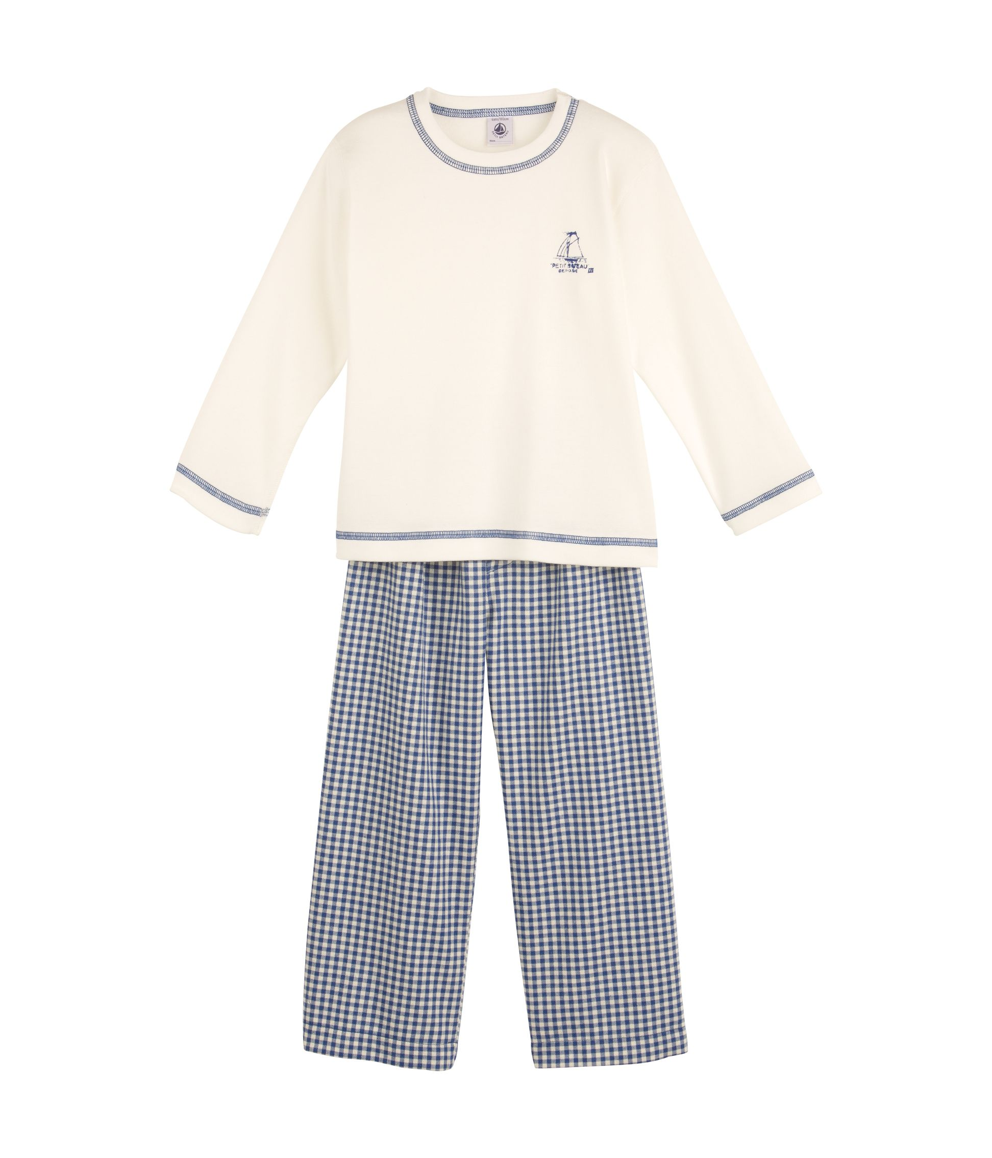 Boy`s brushed cotton gingham pyjamas