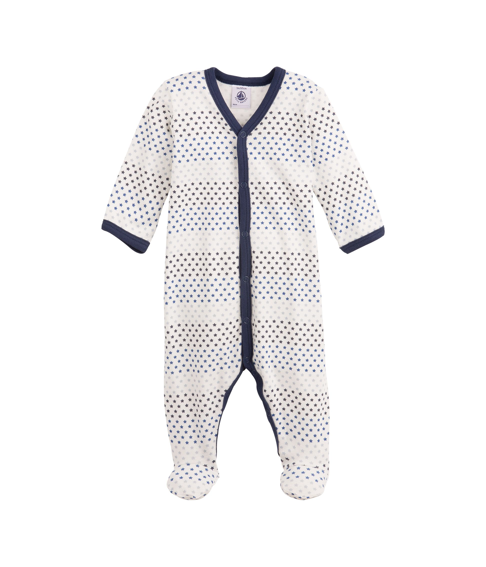 Baby boy`s brushed cotton sleepsuit with print