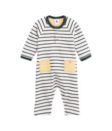 Baby boy`s striped jersey all-in-one