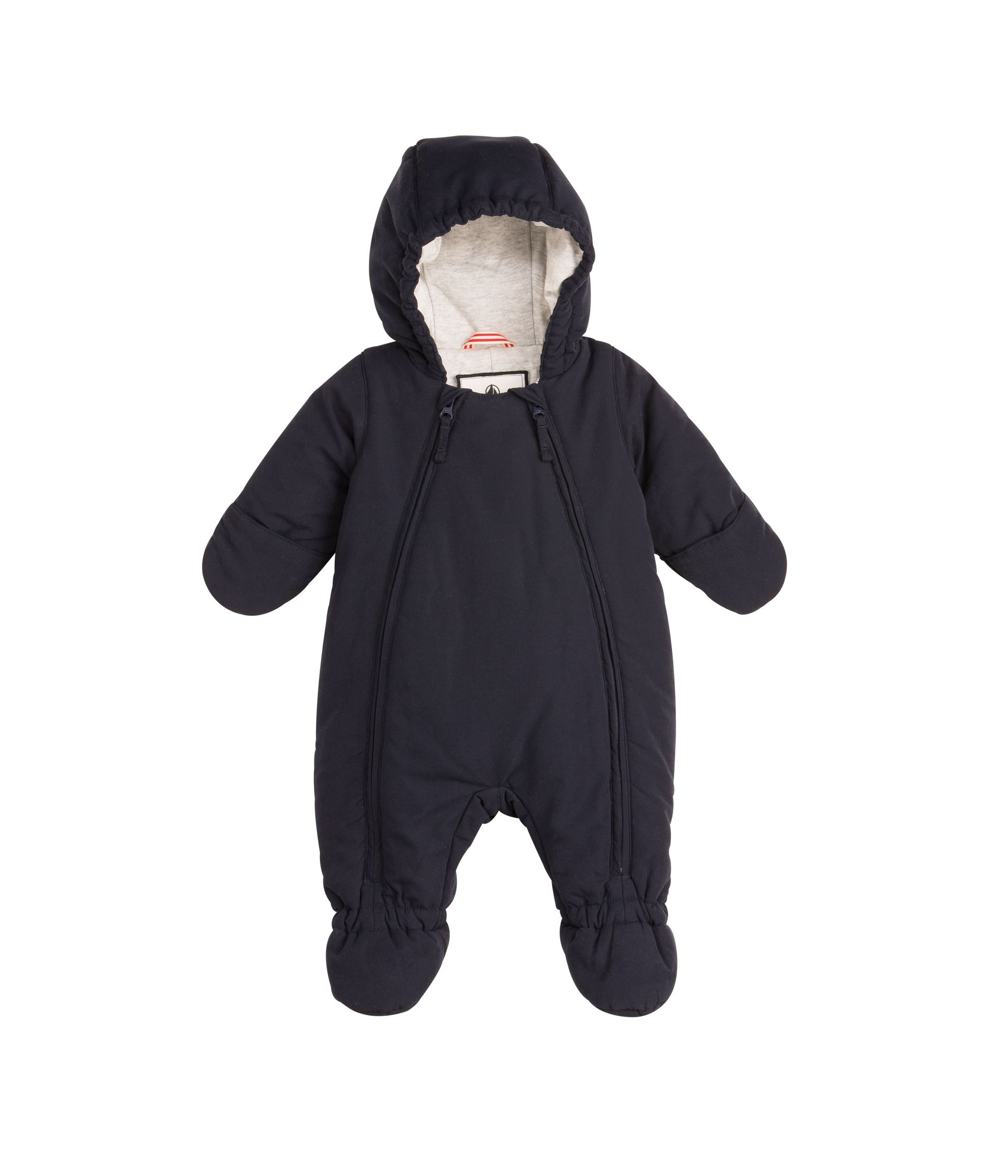 Unisex baby hooded snowsuit