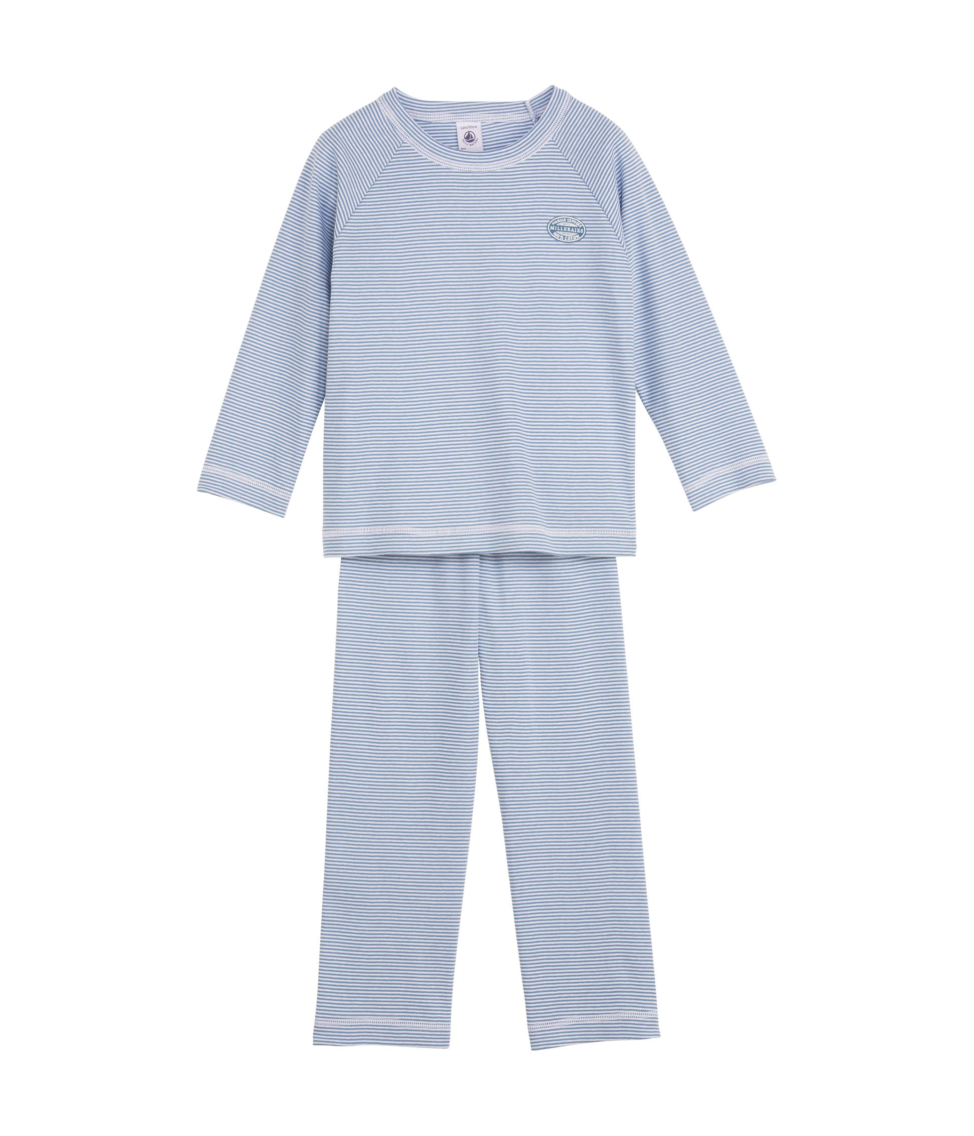 Boy`s milleraies striped cotton pyjamas