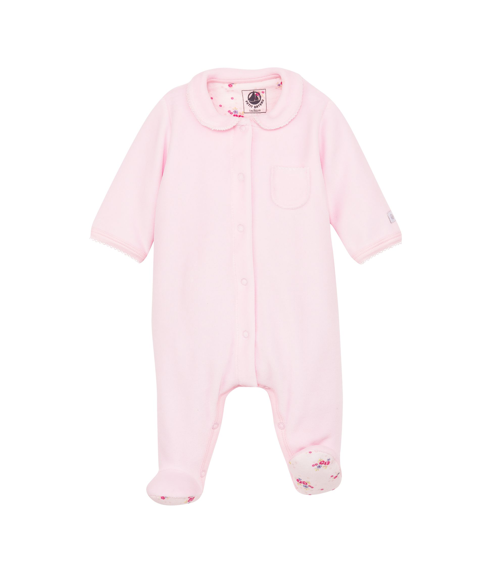Baby girls plain sleepsuit