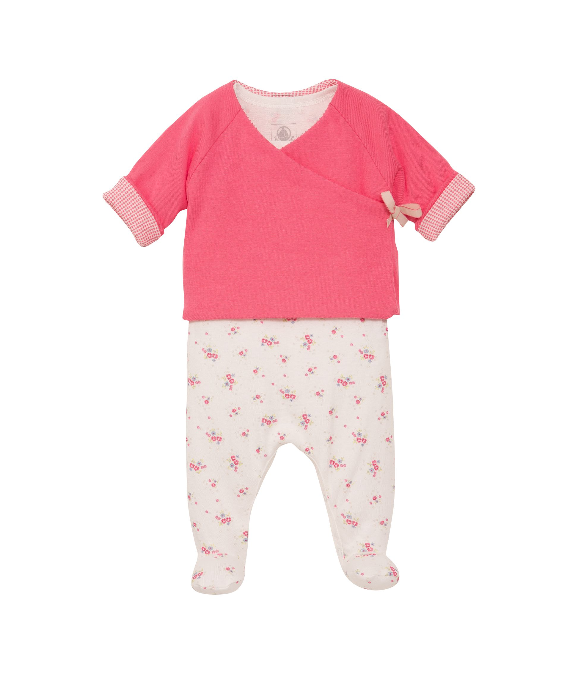 Baby girls jacket and sleepsuit set