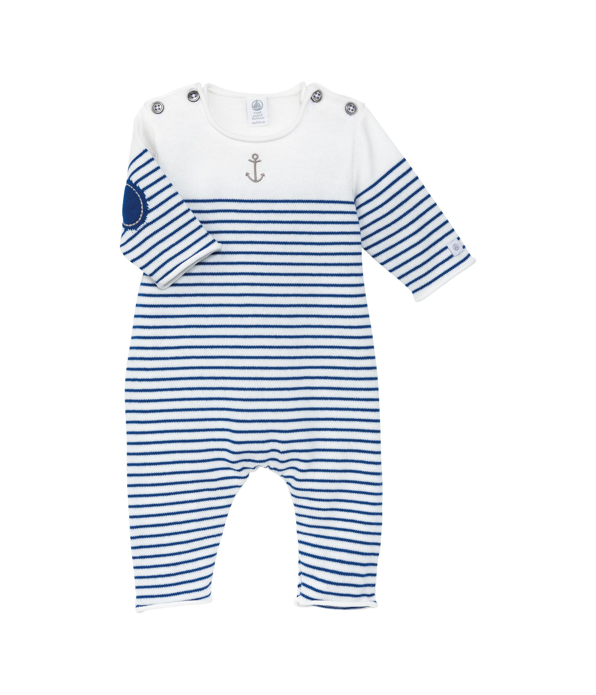 Baby boys stripe knit all-in-one