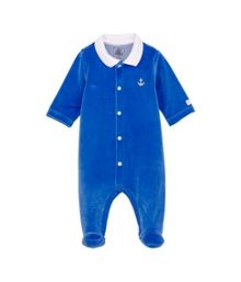 Baby boys plain sleepsuit