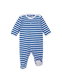 Baby boys striped sleepsuit